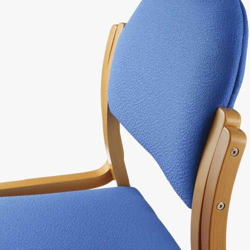【廃番】介護椅子 アイコ 丸背 木製チェア MW-321 肘なし商品画像5