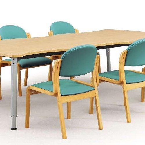 【廃番】介護椅子 アイコ 丸背 木製チェア MW-321 肘なし商品画像6