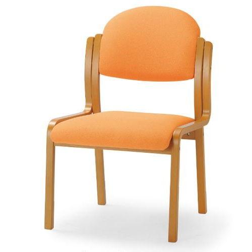【廃番】介護椅子 アイコ 丸背 木製チェア MW-321 肘なしのメイン画像