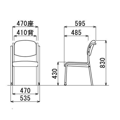 【廃番】介護椅子 アイコ 丸背 木製チェア 持ち手付き 前脚キャスター付き MW-323 肘なし商品画像3