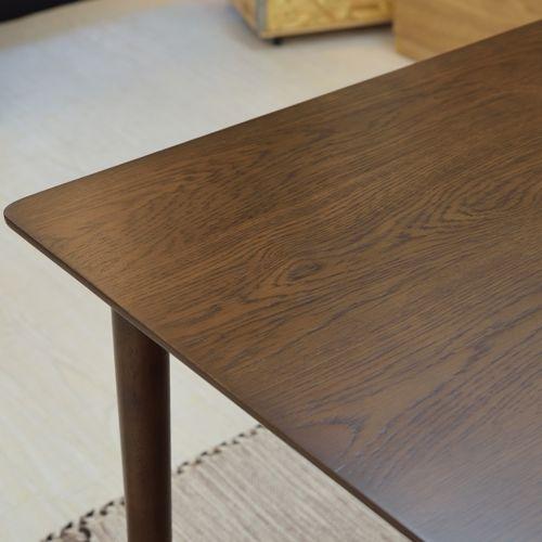 ダイニングテーブル 正方形天板 750角 W750×D750×H700(mm) オーク材突板商品画像5