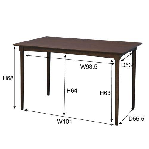 ダイニングテーブル W1200×D750×H700(mm) オーク材突板商品画像2