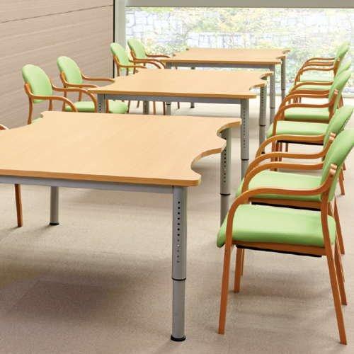 介護テーブル アイコ 天板上下昇降式 凹み形天板 NJT-1612 W1600×D1200×H680~765(mm)商品画像6