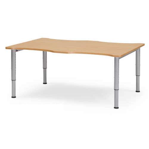 【廃番】介護テーブル 天板上下昇降式 凹み形天板 NJT-1612 W1600×D1200×H680~765(mm)のメイン画像