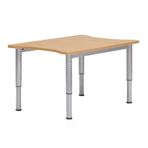 【廃番】介護テーブル 天板上下昇降式 凹み形天板 NJT-8012 W800×D1200×H680~765(mm)のメイン画像