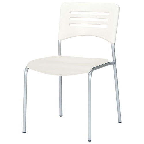 会議椅子 スタッキングチェア NKIN-26 固定脚 ビニールレザー張り 肘なしのメイン画像