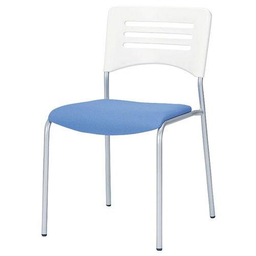 会議椅子 スタッキングチェア NKIN-27 固定脚 布張り 肘なし商品画像2