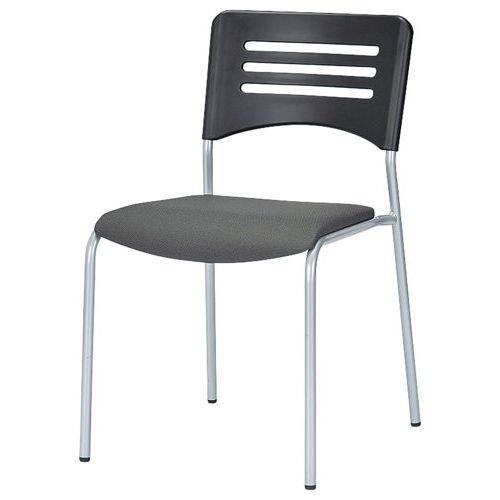 会議椅子 スタッキングチェア NKIN-27 固定脚 布張り 肘なしのメイン画像
