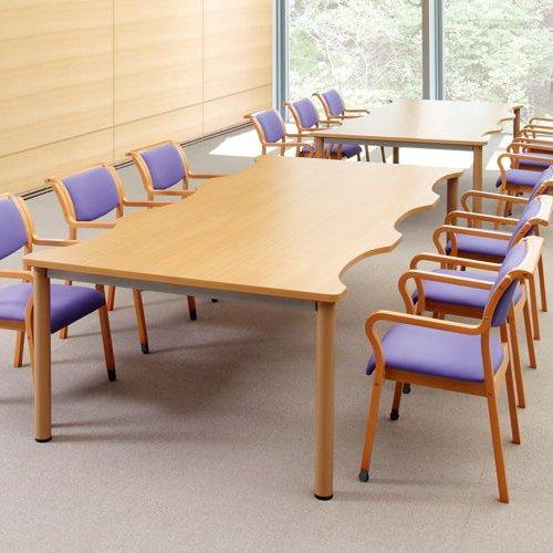 【廃番】介護テーブル NSTテーブル 凹み形天板 NST-2412 W2400×D1200×H700(mm)商品画像4