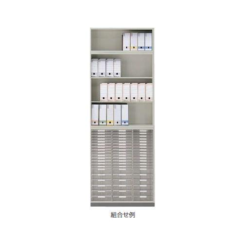 キャビネット・収納庫 オープン書庫 上置き用 H450mm NW型 NW-0905N-AW W899×D450×H450(mm)商品画像3