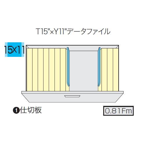 キャビネット・収納庫 ファイル引き出し書庫 2段 NW型 NW-0907S-2-AW W899×D450×H700(mm)商品画像4