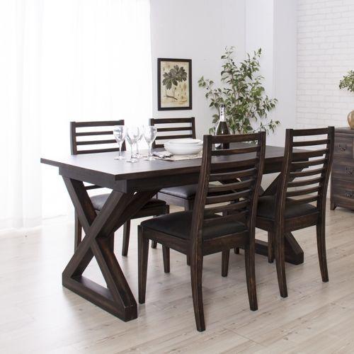 ダイニングテーブル ローランドシリーズ 天然木(マホガニー) クロスレッグ W1500×D800×H720(mm) AZ-NW-882T商品画像5
