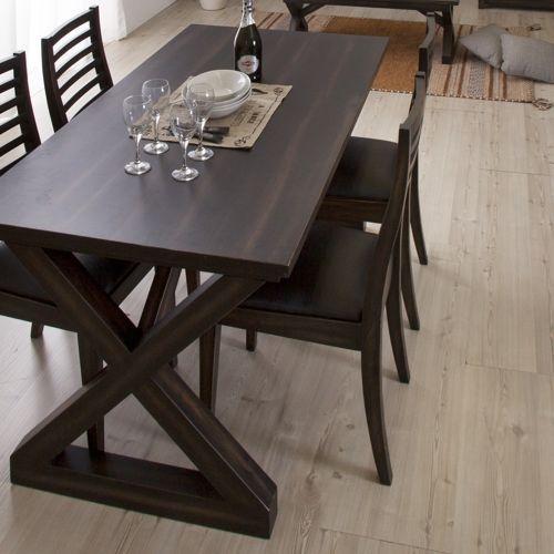 ダイニングテーブル ローランドシリーズ 天然木(マホガニー) クロスレッグ W1500×D800×H720(mm) AZ-NW-882T商品画像6