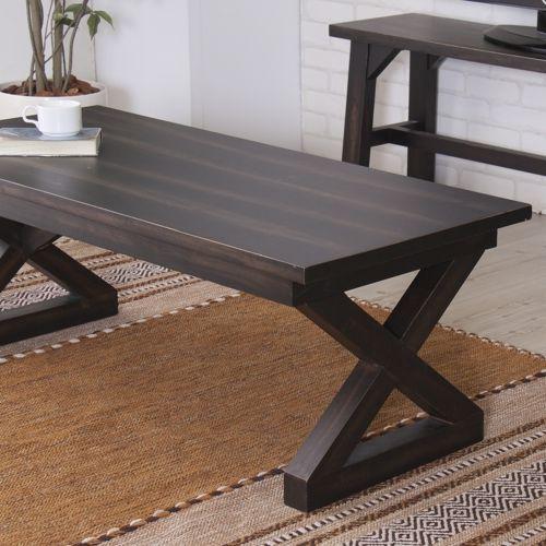 センターテーブル ローランドシリーズ AZUMAYA(東谷) NW-884 コーヒーテーブル 天然木(マホガニー) W1100×D500×H400(mm)商品画像3