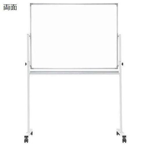 ホワイトボード スチールタイプ 脚付き 無地 両面 NWBR-34 板面サイズ:幅1200mm×高さ900mmのメイン画像