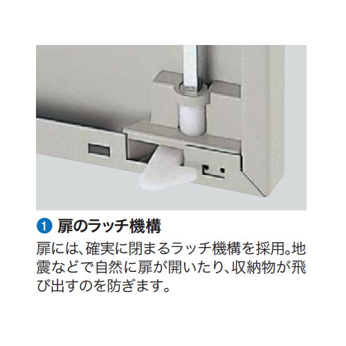両開き書庫 ナイキ H900mm NWS型 NWS-0909K-AW W899×D400×H900(mm)商品画像5