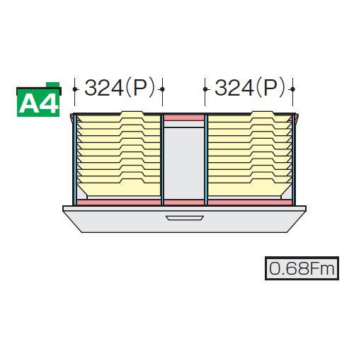キャビネット・収納庫 CWS型・NWS型ファイル引き出し書庫用ハンギングセットE NWS-A4HFBのメイン画像
