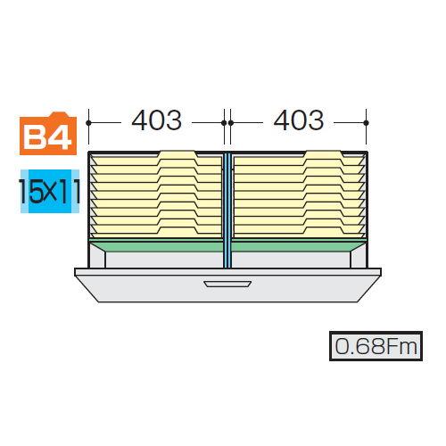 ナイキ CWS型・NWS型ファイル引き出し書庫用B4フォルダー仕切セットH NWS-B4FFBのメイン画像