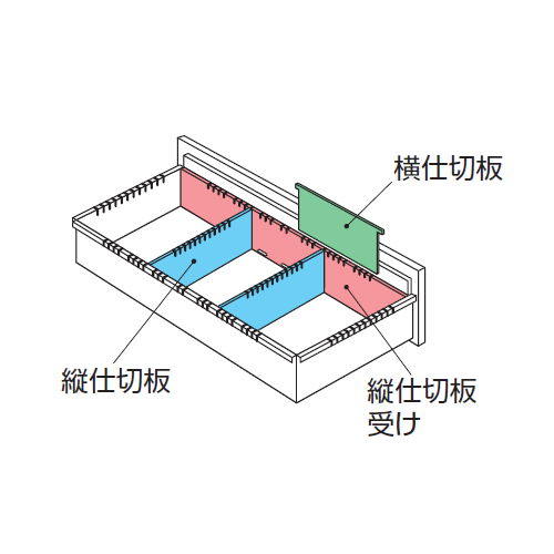 キャビネット・収納庫 CWS型・NWS型ファイル引き出し書庫用B5フォルダー(中央A5)仕切セットJ NWS-B5FFB商品画像2