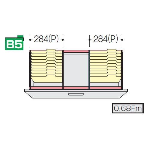 キャビネット・収納庫 CWS型・NWS型ファイル引き出し書庫用ハンギングセットF NWS-B5HFBのメイン画像