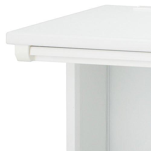 デスク 井上金庫(イノウエ) 平机 ホワイト ODH-127 W1200×D700×H700(mm)商品画像3