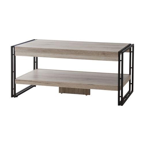 センターテーブル チェスターシリーズ AZUMAYA(東谷) OL-570 コーヒーテーブル スチール脚 W1000×D500×H455(mm)のメイン画像