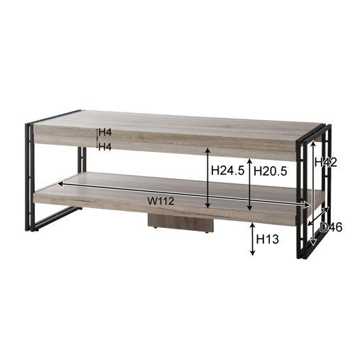 センターテーブル チェスターシリーズ コーヒーテーブル スチール脚 W1200×D500×H455(mm) AZ-OL-571商品画像2