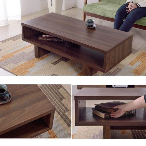 センターテーブル KD Furnitureシリーズ AZUMAYA(東谷) OL-851 ボックス型テーブル W1100×D500×H365(mm)商品画像6