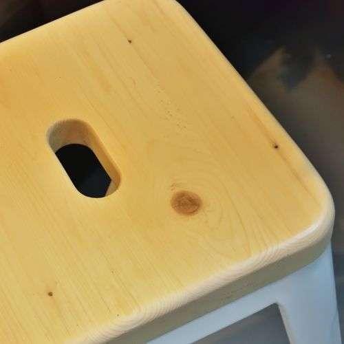スツール アランスツール スタッキングチェア PC-134WH ホワイトフレーム×ナチュラル座面 天然木商品画像6
