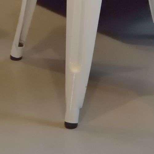スツール アランスツール スタッキングチェア PC-134WH ホワイトフレーム×ナチュラル座面 天然木商品画像7