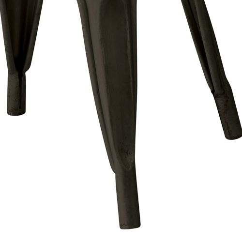 スタッキングチェア AZUMAYA(東谷) アラン PC-136BK ホールド型バックレストフレーム ブラックフレーム×ブラウン座面 天然木商品画像5