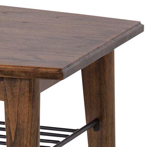 センターテーブル ティンバーシリーズ Lサイズ 天然木(ミンディ) W1100×D550×H400(mm)商品画像5
