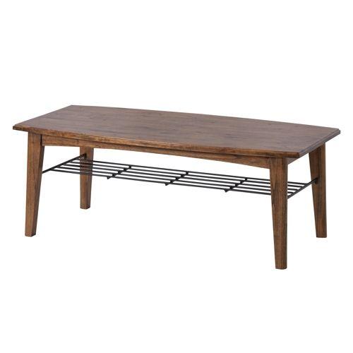 センターテーブル ティンバーシリーズ Lサイズ 天然木(ミンディ) W1100×D550×H400(mm)のメイン画像