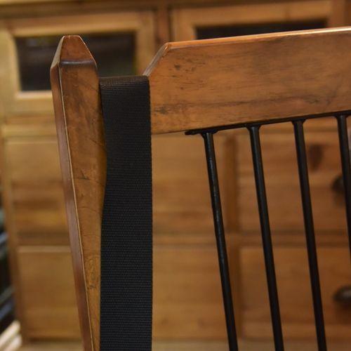 チェア ティンバーシリーズ 天然木(ミンディ) アイアン棚 ダイニングチェア商品画像4