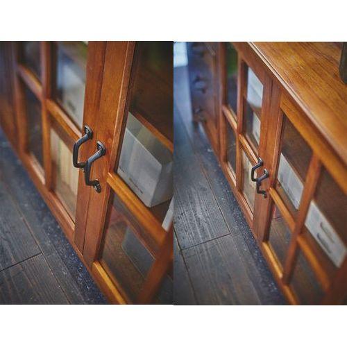 キャビネット ティンバーシリーズ 天然木(ミンディ) 4段引出し+3段ガラス戸棚 W1200×D400×H750(mm)商品画像5
