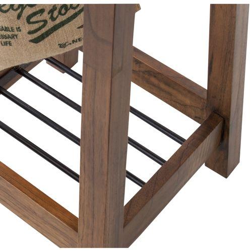 ハンガー ティンバーシリーズ 天然木(ミンディ) アイアン棚 W350×D350×H1620(mm)商品画像4