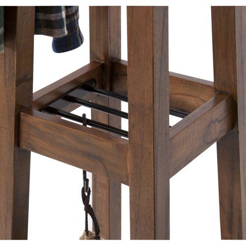 ハンガー ティンバーシリーズ 天然木(ミンディ) アイアン棚 W350×D350×H1620(mm)商品画像5