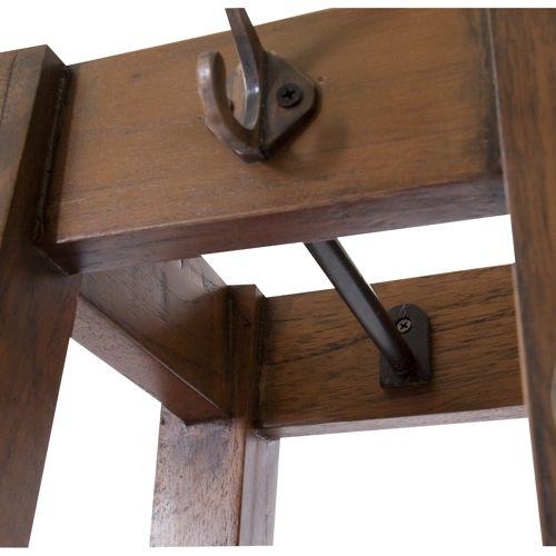 ハンガー ティンバーシリーズ 天然木(ミンディ) アイアン棚 W350×D350×H1620(mm)商品画像6
