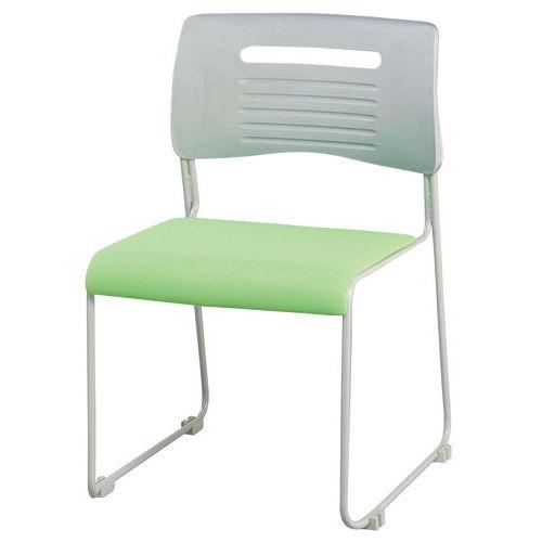 会議椅子 スタッキングチェア PMC-430 ループ脚 布張り 肘なし商品画像2