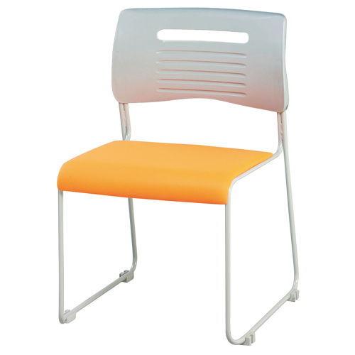 会議椅子 スタッキングチェア PMC-430 ループ脚 布張り 肘なし商品画像3