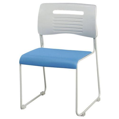 会議椅子 スタッキングチェア PMC-430 ループ脚 布張り 肘なし商品画像4