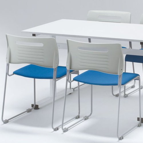会議椅子 スタッキングチェア PMC-430 ループ脚 布張り 肘なし商品画像9