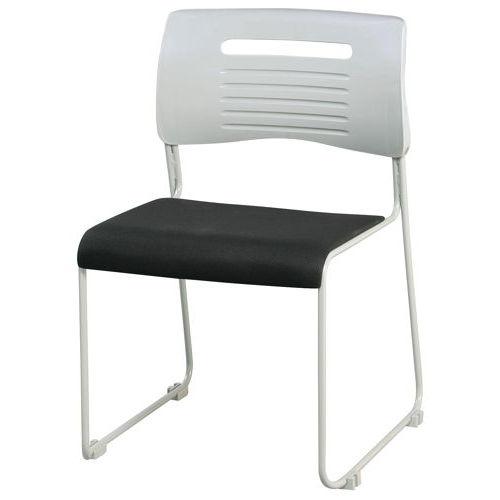 会議椅子 スタッキングチェア PMC-430 ループ脚 布張り 肘なしのメイン画像