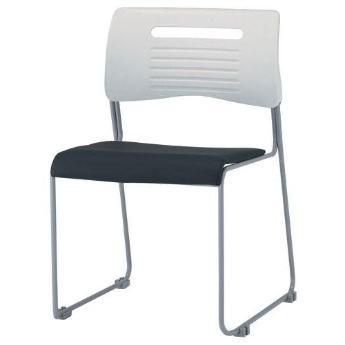 会議椅子 スタッキングチェア PMC-P430 ループ脚 ビニールレザー張り 肘なし商品画像2