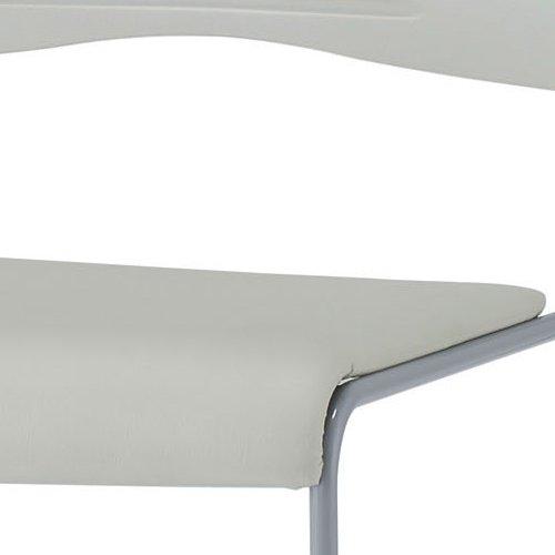 会議椅子 スタッキングチェア PMC-P430 ループ脚 ビニールレザー張り 肘なし商品画像4