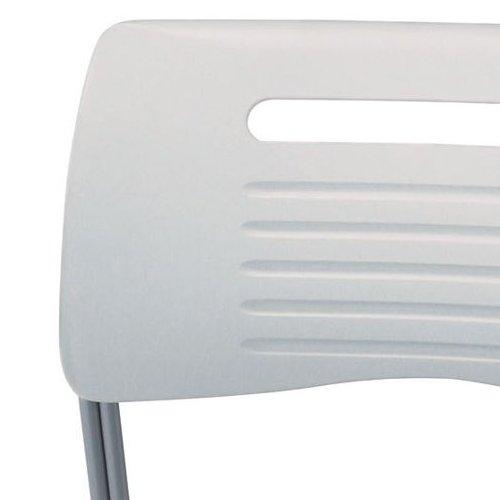 会議椅子 スタッキングチェア PMC-P430 ループ脚 ビニールレザー張り 肘なし商品画像6