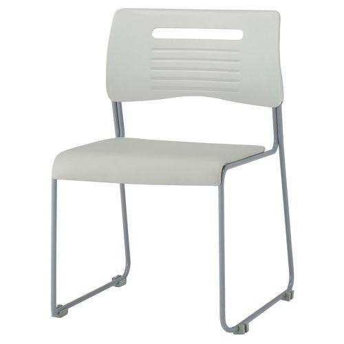 会議椅子 スタッキングチェア PMC-P430 ループ脚 ビニールレザー張り 肘なしのメイン画像