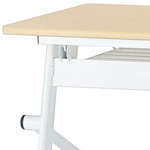 会議用テーブル 井上金庫(イノウエ) 平行スタックテーブル PND-1845 W1800×D450×H720(mm)商品画像6