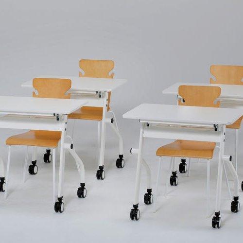 テーブル(会議用) 平行スタックテーブル PND-7545 W750×D450×H720(mm)商品画像9
