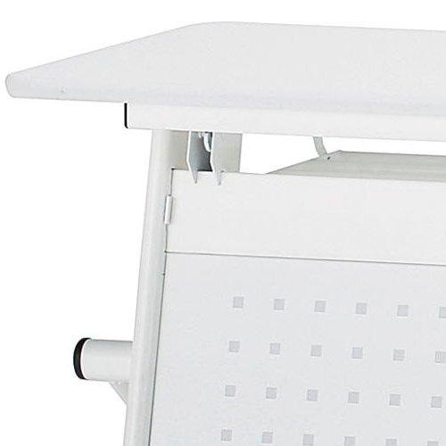 テーブル(会議用) 井上金庫(イノウエ) 幕板パネル スチール パンチング仕様 W750mm用 PND-75M PNDテーブル専用商品画像4